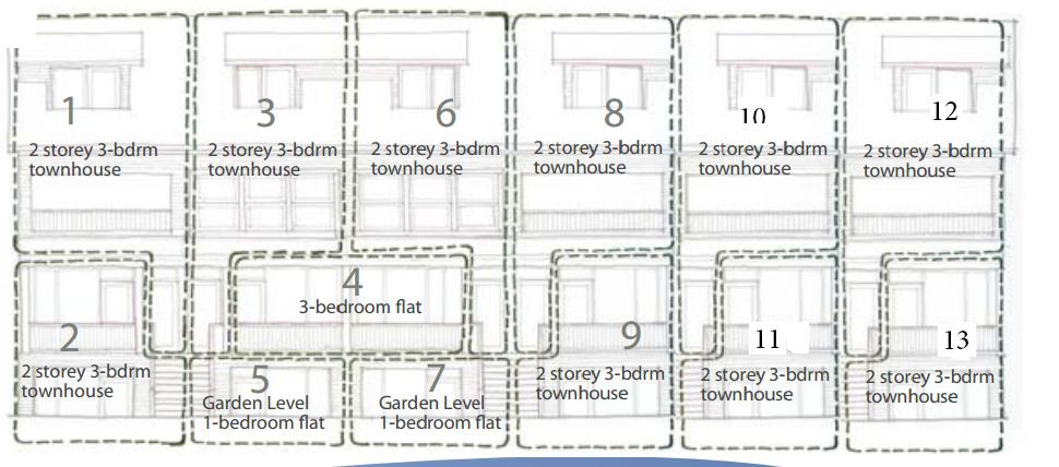Norquay village development site for sale townhomes for Stacked townhouse floor plans